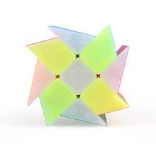 Qiyi Jelly Color  Irregularly Windmill Wind Wheel Cube Stickerless Plastic Twisty Magic Toys for Child Kids Cubo Magico