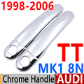 Para AUDI TT 8N MK1 1998-2006 Luxuoso Chrome Door Handle Covers guarnição Conjunto de 2 1.8 T 1999 2000 2002 2005 Acessórios Do Carro Styling