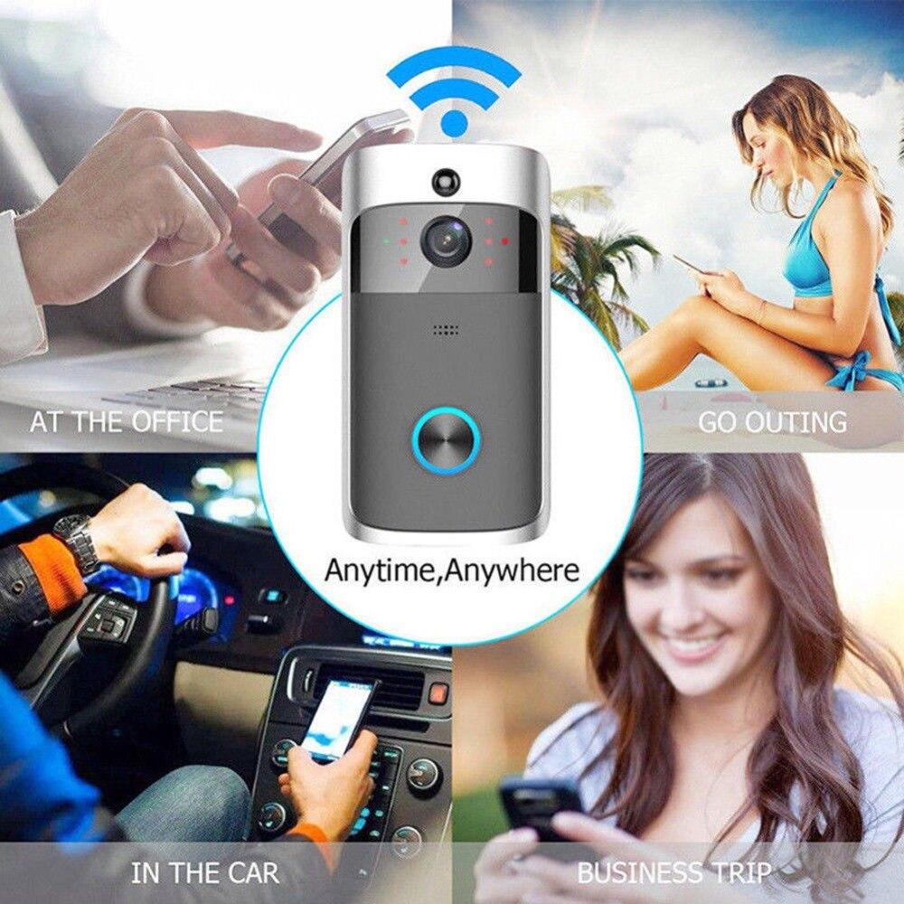 Hot Creative Home Smart Waterproof 600M Wireless Doorbell Camera WiFi Remote Video Door Intercom IR Security Bell AC #293486