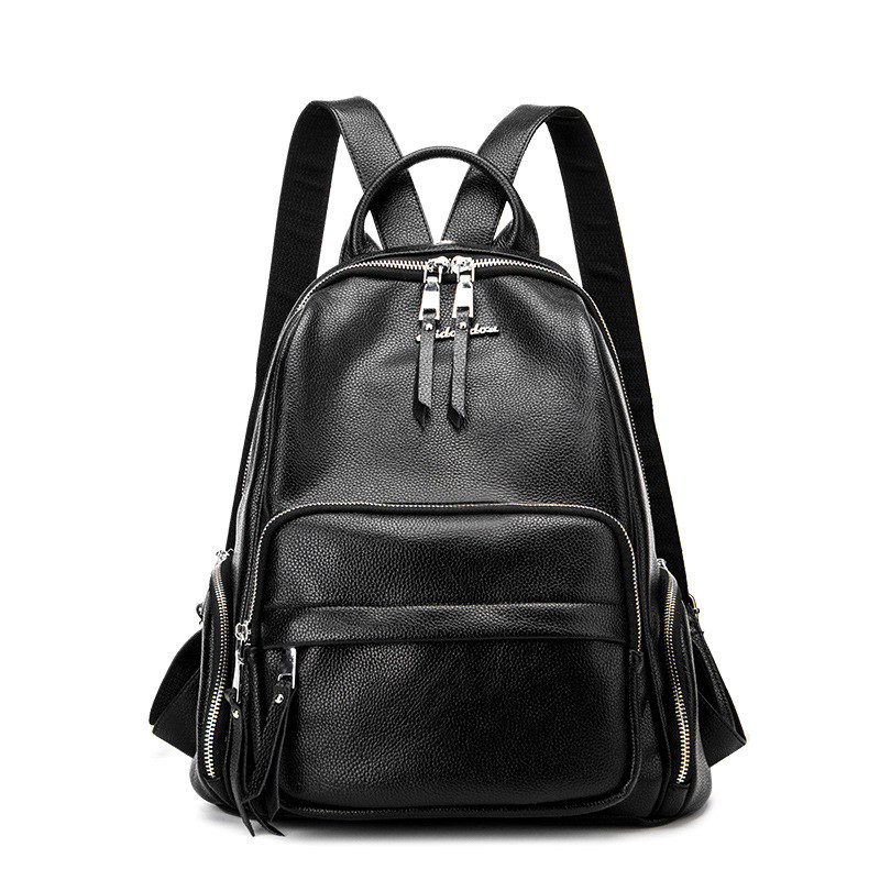 Women's Backpacks Leather Female Backpack Women Schoolbag For Girls Large Capacity Shoulder Travel Mochila Bolsa women s backpacks genuine leather female backpack women school bag for girls large capacity shoulder travel mochila