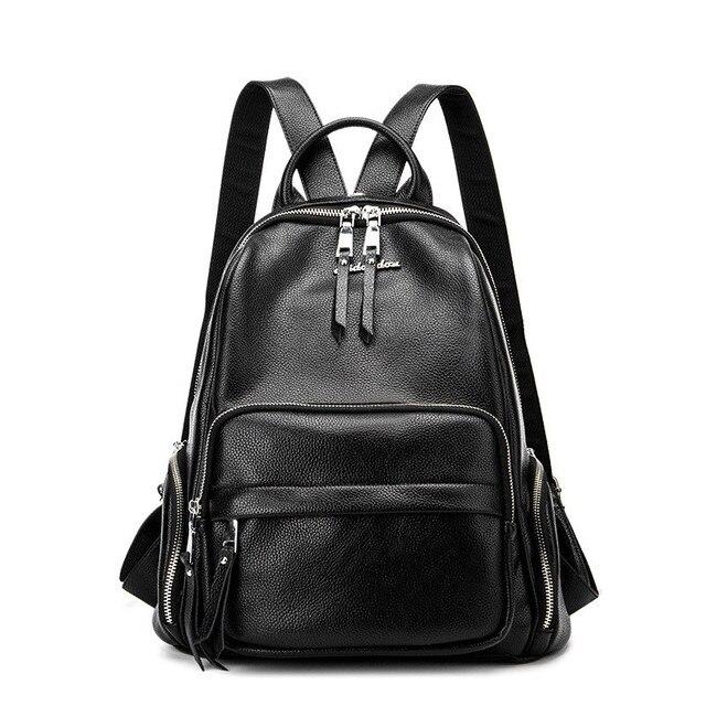 Women's Backpacks Leather Female Backpack Women Schoolbag For ...
