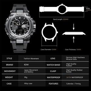 Image 3 - Relogio Masculino KDM Fashion Men Sport Watch 2019 Male LED Digital Quartz Wrist Watches Mens Top Brand Luxury Digital Watches