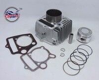 54mm 125CC Aluminum Alloy big bore kit Cylinder set for Dirt Bike ATV Honda C100 C110 CT100 JH110 DY110 QJ110 9 ZS110 152FMH