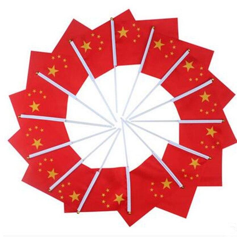 Bandera roja de cinco estrellas pequeño banderas chinas al por mayor ...