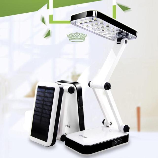 2 Students Folding Light Eye Reading Dual Charging Creative 4w Protection Mode Desk Lamp Led Solar Power TlK31FJc