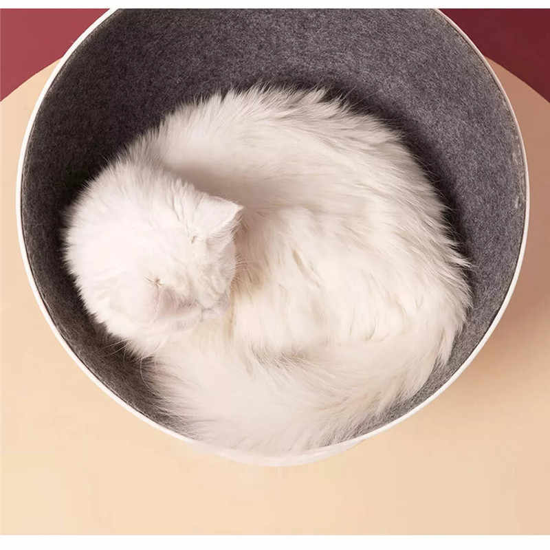 Xiaomi 猫ベッド & マットペットハウス猫 Boss 回転相互作用猫家睡眠おかしいペットベッド繊維材料猫用品