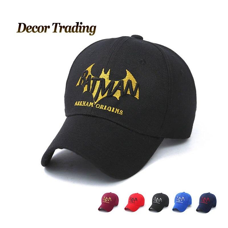 Prix pour 2016 nouveau printemps automne casquettes de baseball 3D brodé Batman chapeau casquette de baseball chapeau réglable casual trucket chapeau