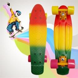 Крейсер мини скейтборд для детей Пенни Доска рыбий доске завершена Графический Ретро банан скейтборды 22 дюймов красочные single Rocker
