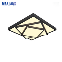 Modern Black White LED Ceiling Lights White Warm White Ceiling Lamp Indoor Parlor Office Ceiling Lights