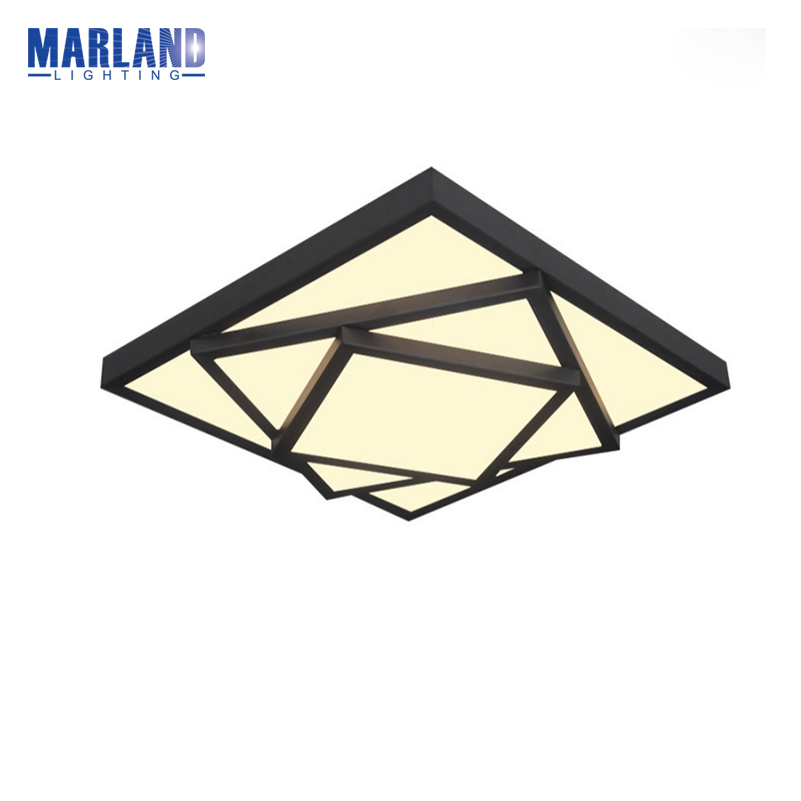 Modern Black White LED Ceiling Lights White/Warm White Ceiling lamp Indoor Parlor Office Ceiling Lights For Living Room(D5091) noosion modern led ceiling lamp for bedroom room black and white color with crystal plafon techo iluminacion lustre de plafond