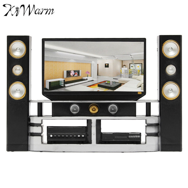 Cute Home Theater Cinema Cabinet Set Combo For Doll House Living ...