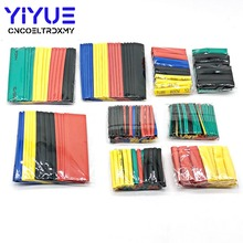 цена на 328Pcs/pack Assorted Polyolefin Heat Shrink Tubing Tube Cable Sleeves Wrap Wire Set 8 Size Multicolor