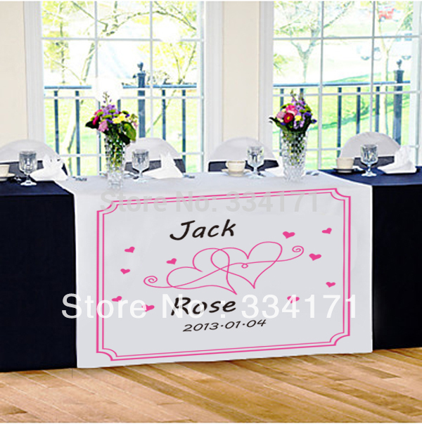 New Arrival Personalized Wedding Reception Table Runner More Hearts