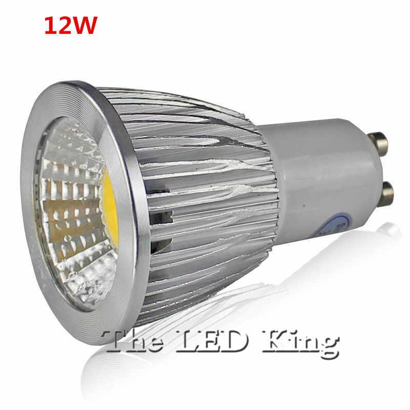 Super lumineux GU10 ampoules lumière Dimmable LED chaud/blanc rouge bleu vert AC 85-265 V 9 W 12 W 15 W MR16 12 V GU10 COB lampe à LED spot