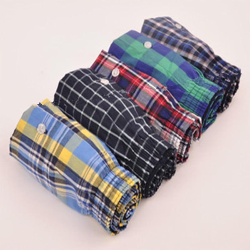 2019 The New 5pcs/Lot  Loose Shorts Men'S Panties Cotton ;The Large,Comfortable And Soft Underwear Men  M - 6XL   Ko48