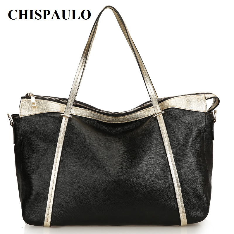 CHISPAULO 2017 Women Bag Genuine Leather Famous Brand  summer big ladies shoulder messenger bags shopping Vintage Tassel C126 new genuine leather bags for women famous brand boston messenger bags handbags tassel tote hand bag woman shoulder big bag bolso