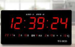 LED kalender elektronische digitale wohnzimmer uhr tag zeit wanduhr leise