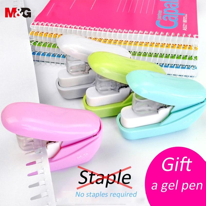 No Nails Stapling Machine Mini Cute Book Stapler No Staples Required Stapleless Stapler Paper Stapling Stapler Without Staple St