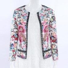 O-Neck Sexy Slim Cardigan Short Coat Bomber Jacket Jaqueta Feminina New 2018 Spring Autumn Women Floral Print Casual Jacket женская куртка brand new slim o 658052 jacket