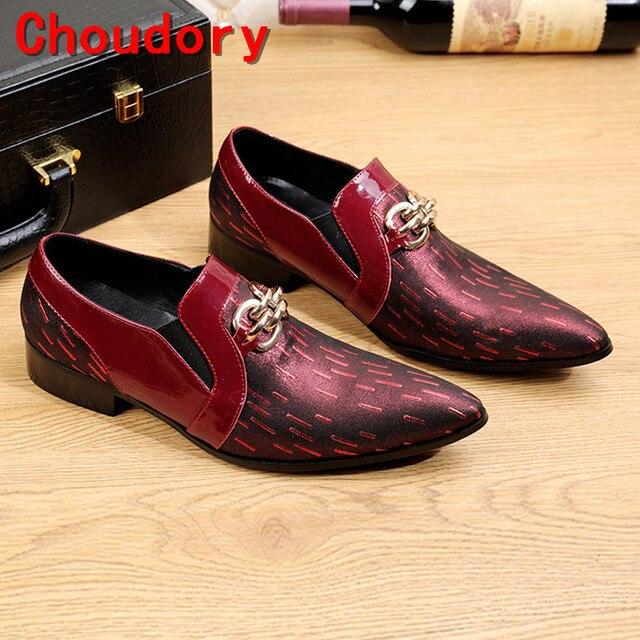 Choudory Uomo scarpe da sposa rosso mocassini chaussure homme Uomo Choudory   e0e68c