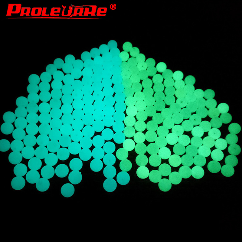 Proleurre 5mm Luminous Beads Fishing Space Beans Round Float Balls Stopper Light Balls Sea Fishing Tackle Lure Accessories