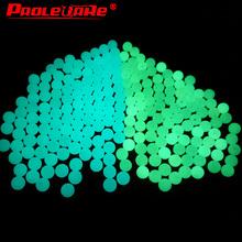 Proleurre 5mm Luminous koraliki połowów przestrzeni fasoli okrągły pływak kulki korek światło kulki morze wędkarstwo Tackle akcesoria przynęty tanie tanio Fluorescencyjne koraliki Plastikowe Lake Space Bean 5mm balls (inner diameter 1 4mm)