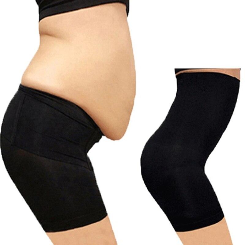 Sin mujeres de cintura alta de adelgazamiento Control de abdomen bragas pantalón bragas ropa interior fajas talladora del cuerpo de la señora de corsé
