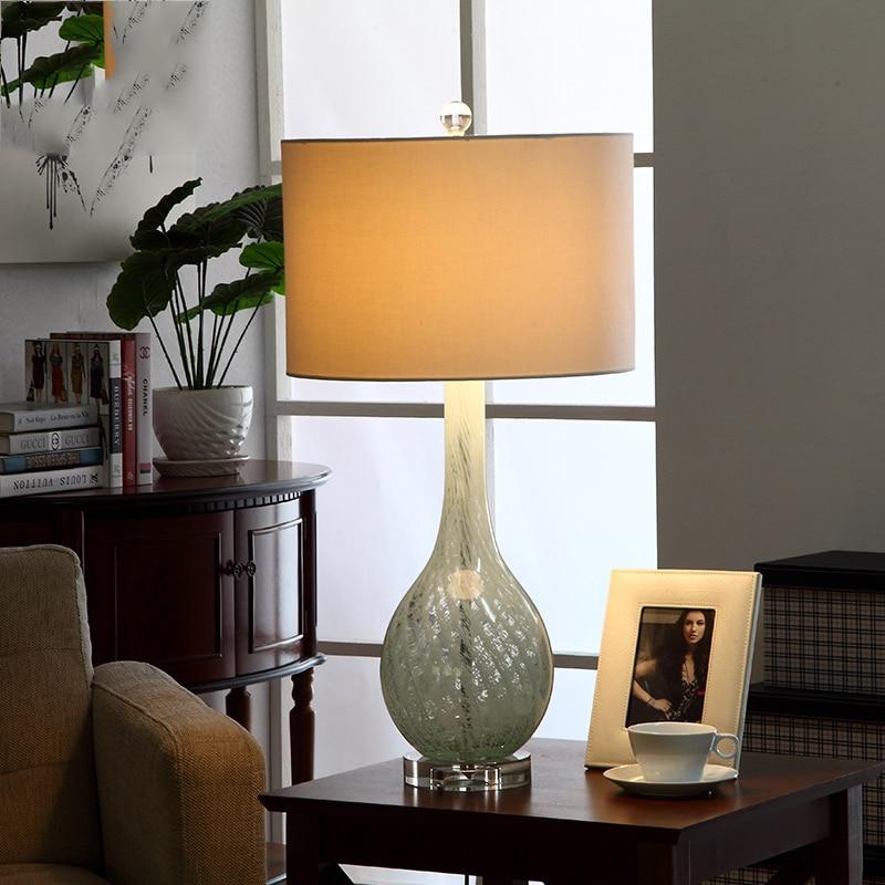 Fashion Art Glass Table Lamp 110V 220V Luxury Bedroom ...
