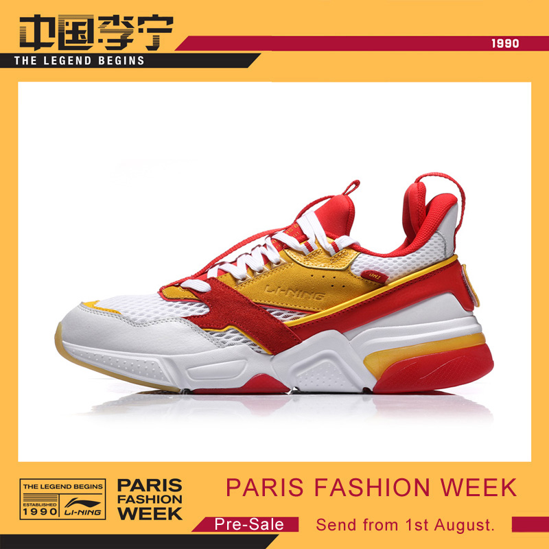 (Sale On July 1)Li-Ning PFW Men 001 R-I The Trend Walking Shoes Wearble LiNing Sports Shoes Comfort Sneakers AGLN227 YXB199