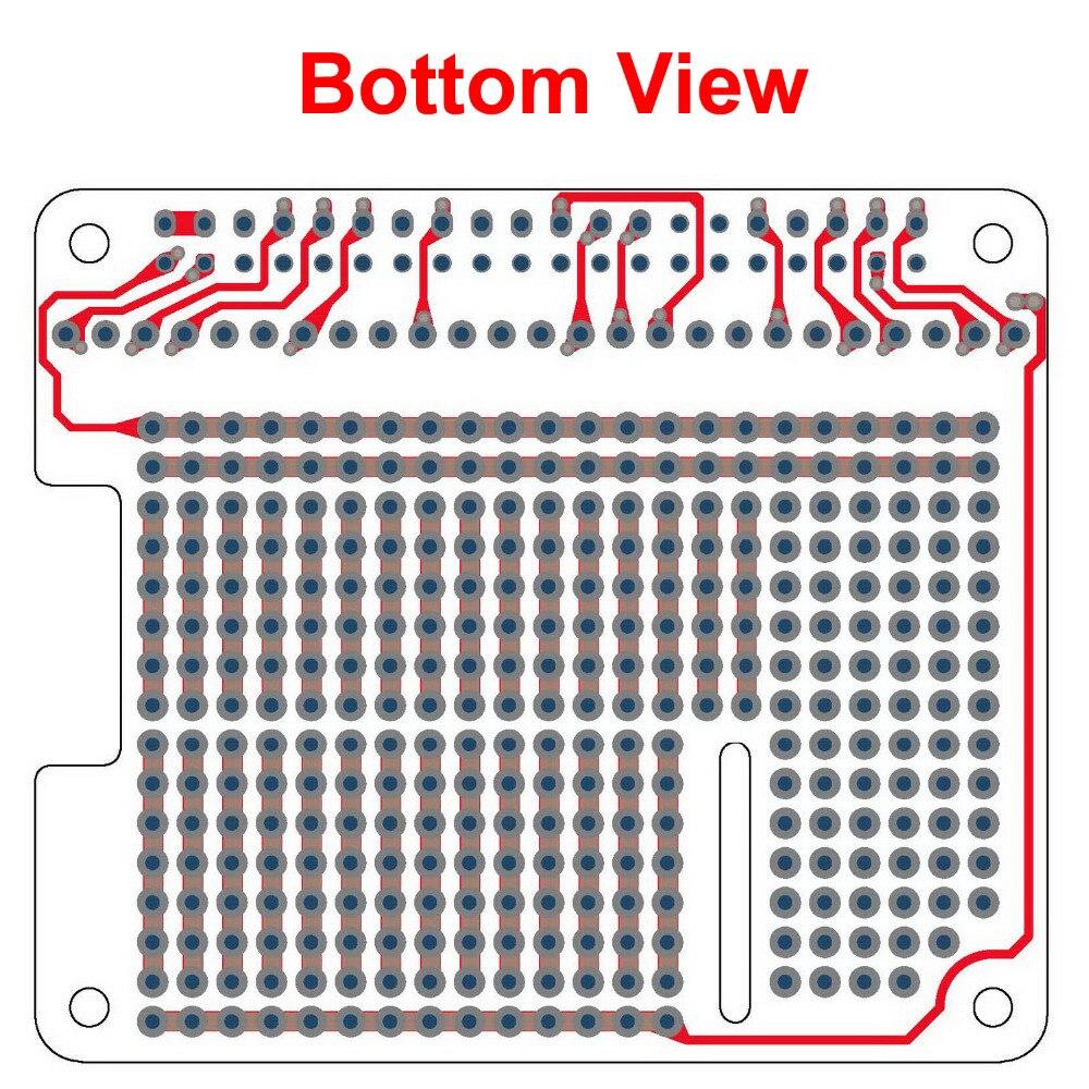 Electronics-Salon 4x Prototype Breakout PCB Shield Board Kit for Raspberry Pi 3 2 B+ A+, Breadboard DIY.