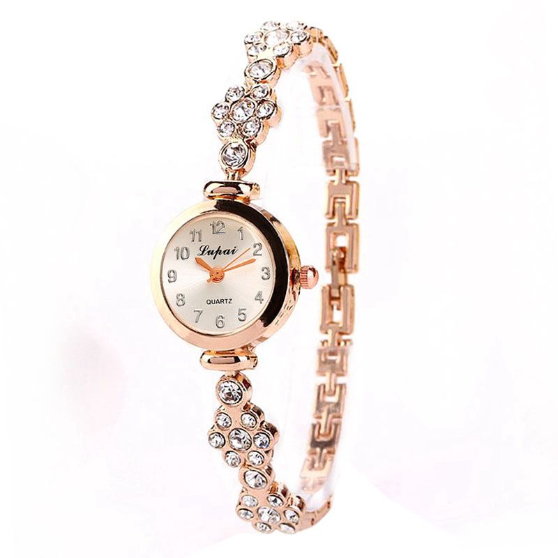 New Fashion Rhinestone Watches Women Luxury Brand Alloy Bracelet Watches Ladies Quartz Dress Watches Reloj Mujer Clock