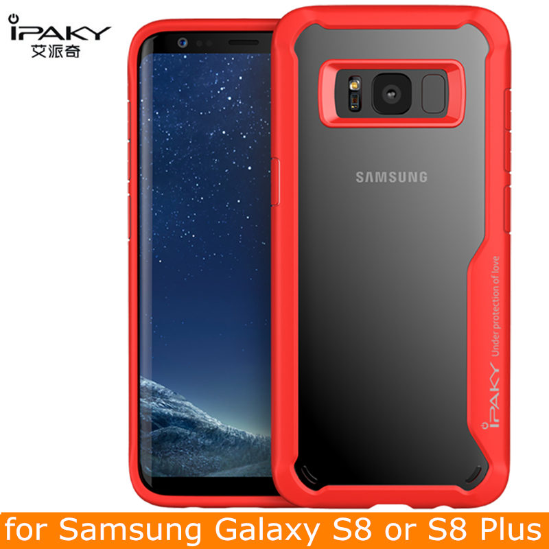 Για θήκη Samsung S8 Plus iPaky Note 9 Silicone Acrylic Hybrid Shockproof Transparent S9 S10 Case for Samsung Galaxy S10 Case