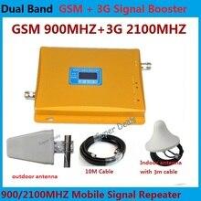 High Gain 2G 3G UMTS GSM Handy Signalverstärker GSM 2G 900 mhz 3G 2100 mhz Dual Band Cellular Handy Signal Booster Verstärker
