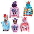 2014 Nuevo Otoño Niños de la Chaqueta Con Capucha Suéter Niño Niños ropa de abrigo muchachas de los bebés de algodón lindo Al Por Menor