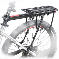 1.15kg Bicycle Carrier Bike Luggage Cargo Rear Rack Aluminum Alloy Shelf Saddle Bags Holder Stand Support With Mount Tools