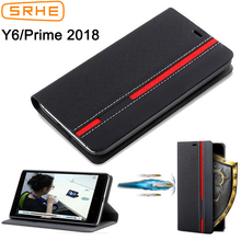 Huawei Y6 2018 Case Cover For Huawei Y6 Prime 2018 Case Flip Leather Silicone Back Cover