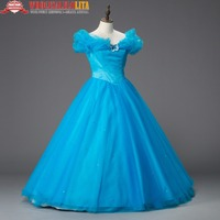 Georgian Blue Princess Ball Gown Holiday Dress Theater Clothing