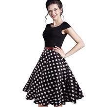 Elegant Print Charming Women O Neck Sleeveless Zipper Work Dress