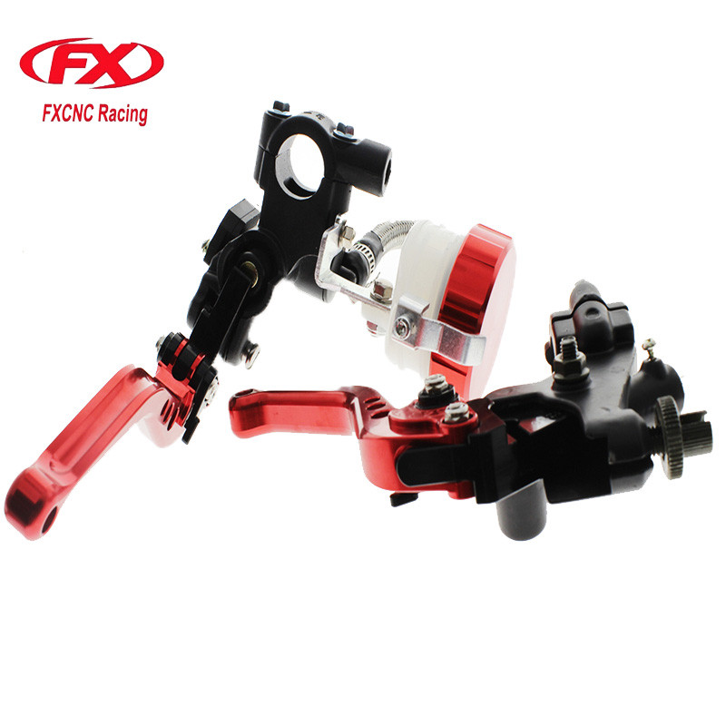FX 7/8 125-300CC Motorcycle Master Cylinder Reservoir Brake Clutch Lever Hydraulic For Kawasaki NINJA 250R 2008 - 2012 Z125 7 8 22mm universal motorcycles brake clutch levers master cylinder reservoir for suzuki 125 300cc moto hydraulic brake lever