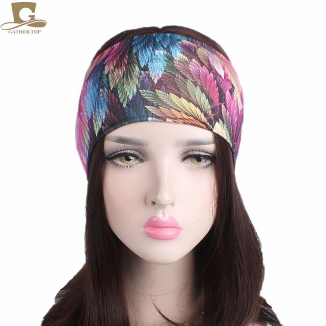 10pcs lot New Fashion Women Yoga Turban Headband Running Fitness Soft Wide  Headbands No Slip ce57dad12f7