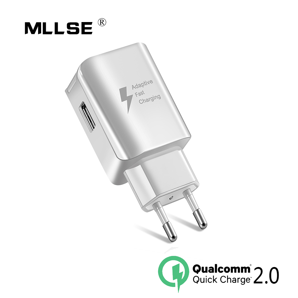 Quick Charger 2.0 For Samsung galaxy S6 Fast USB Charger 5V/2A 9V/1.67A Wall Adapter EU US Plug For Samsung Huawei LG XIAOMI