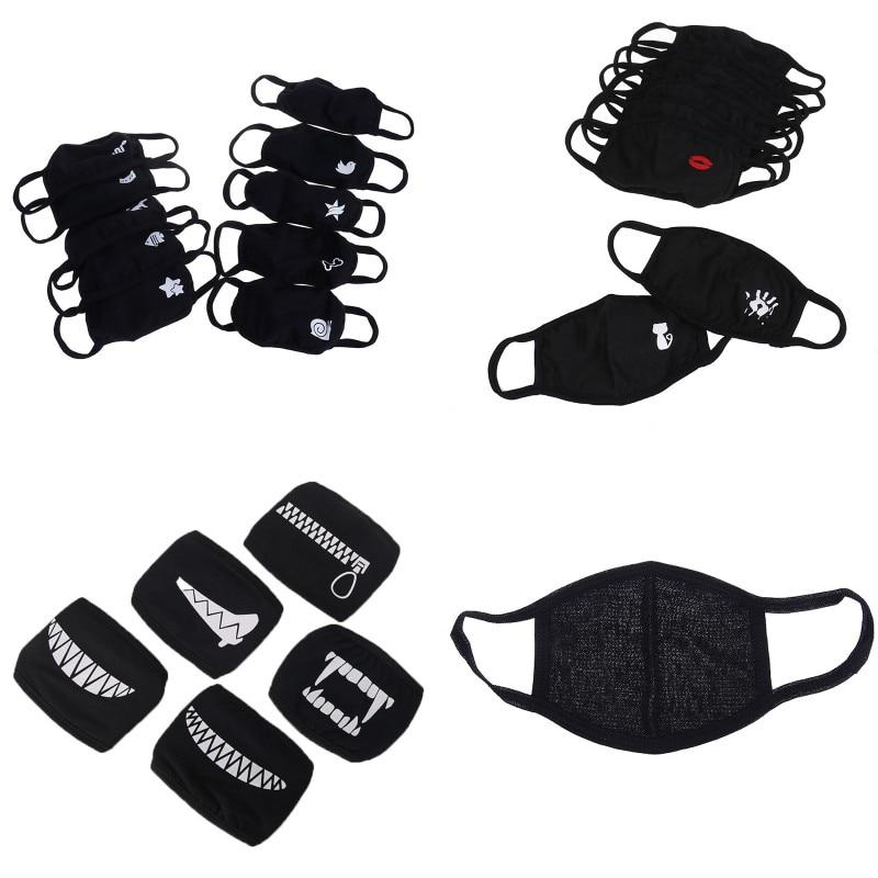 Unisex Winter Warm Thickening Mouth Mask Cotton Warm Dust Respirator Fashion Black Face Masks Women Anti-Dust