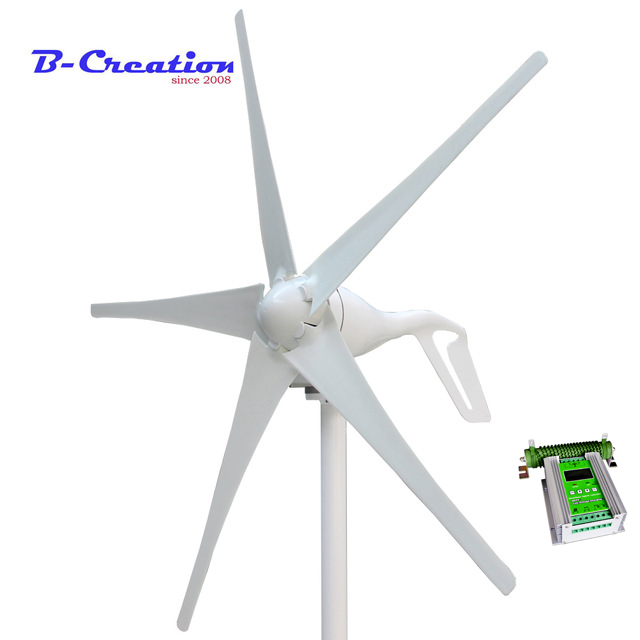 Mini wind turbine/generator 3/5 blades small wind mill low start up wind generator 500w MPPT wind solar hybrid charge controllerMini wind turbine/generator 3/5 blades small wind mill low start up wind generator 500w MPPT wind solar hybrid charge controller