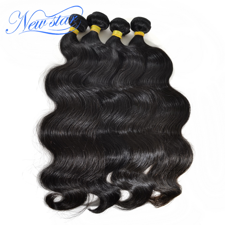Brazilian Virgin Hair Body Wave 4 Bundles Deal Extension 100%Unprocessed Cuticle Aligned Raw Human Hair Weaving New Star Hair
