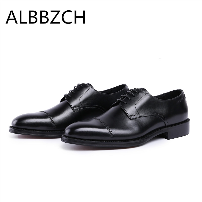 New mens round toe lace up genuine leather wedding shoes men derby business dress shoes fashion sewing design office work shoesNew mens round toe lace up genuine leather wedding shoes men derby business dress shoes fashion sewing design office work shoes
