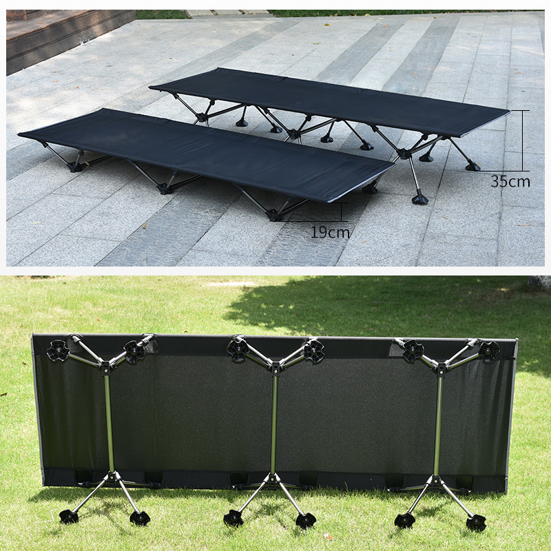 Sturdy Comfortable Camping Mat Portable Folding Tent Bed Sleeping Cot Outdoor Camping Bed Hiking Travel