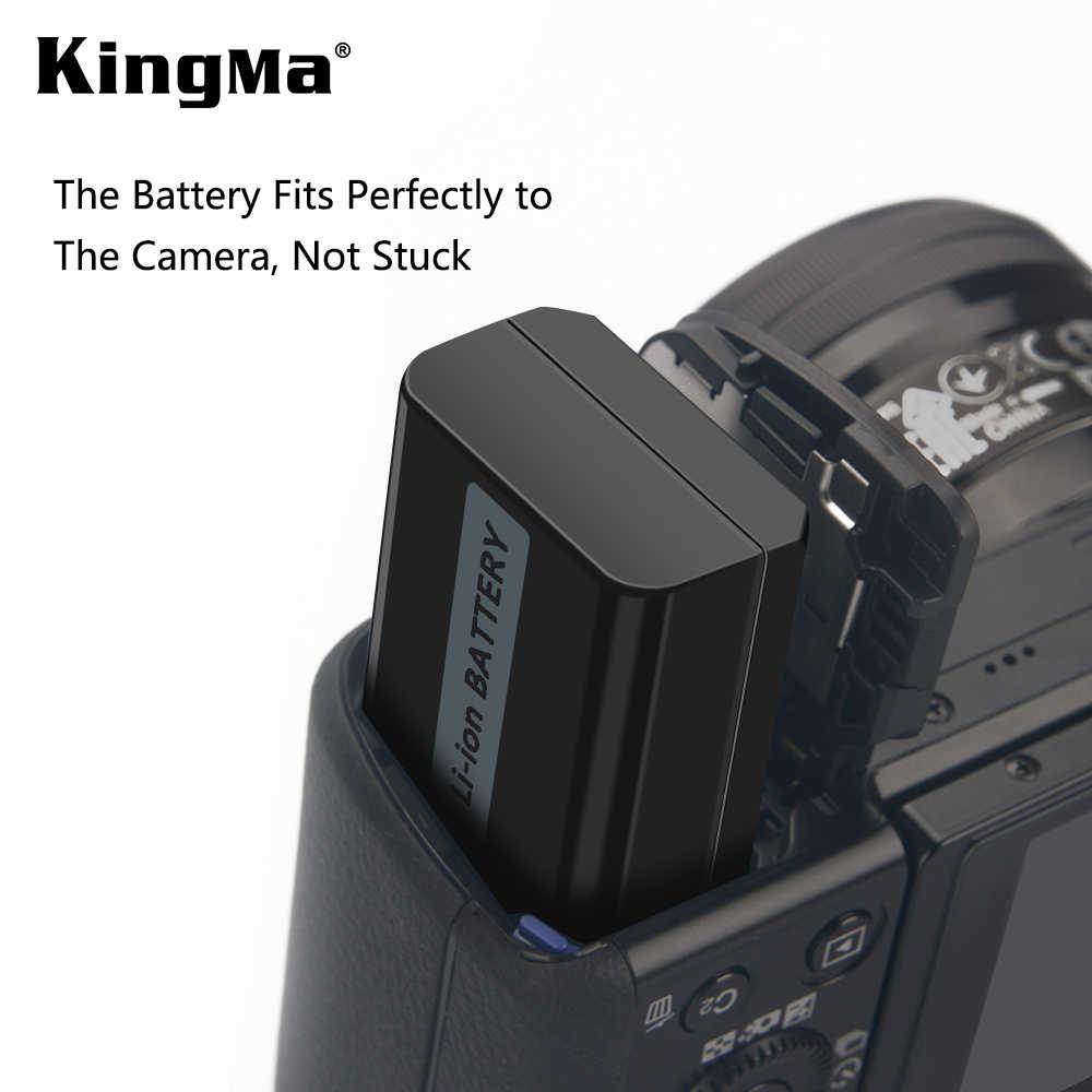 KingMa inteligente LCD Dual del cargador de batería y NP-FW50 para Sony A6300 A6500 NEX-3 5 5 5 6 6 7 A5100 7Rm2 5100 QX1 RX10M2 S 7 S a7m2 A7r2 s2