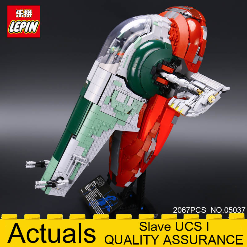 LEPIN 05037 Star Classic Series Wars Slave UCS I Slave NO.1 Model Building Block Bricks Toys Kits Compatible 75060 Gift 2067PCS lepin stars series war 05037 slave ucs i slave no 1 model building blocks bricks educational diy children toy 75060 gift