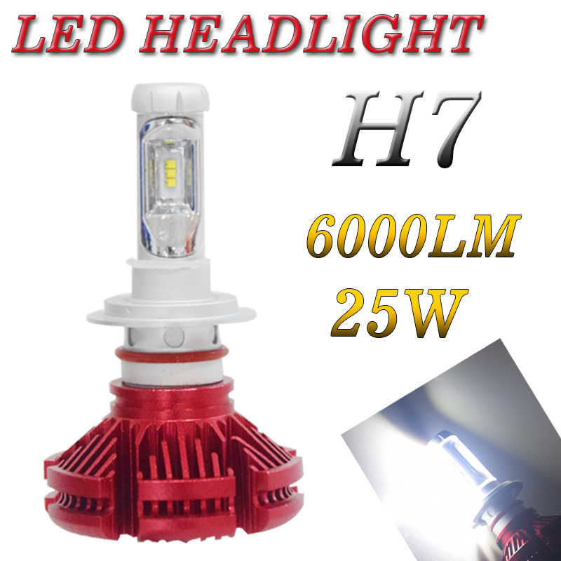 X3 2Pcs 9005 HB3 9006 HB4 H11 H4 H7 Led H1 Car Auto Headlight 50W 6000LM IP67 Automotive Light Bulb All In One ZES Lumileds Lamp