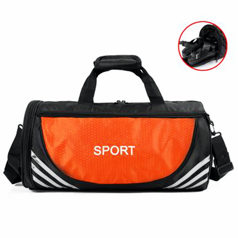 Barrel Shaped Fitness Bag Waterproof Oxford Football Bags Printi Letter Gym Handbag Outdoor Tour Luggage Single Shoulder In From Sports